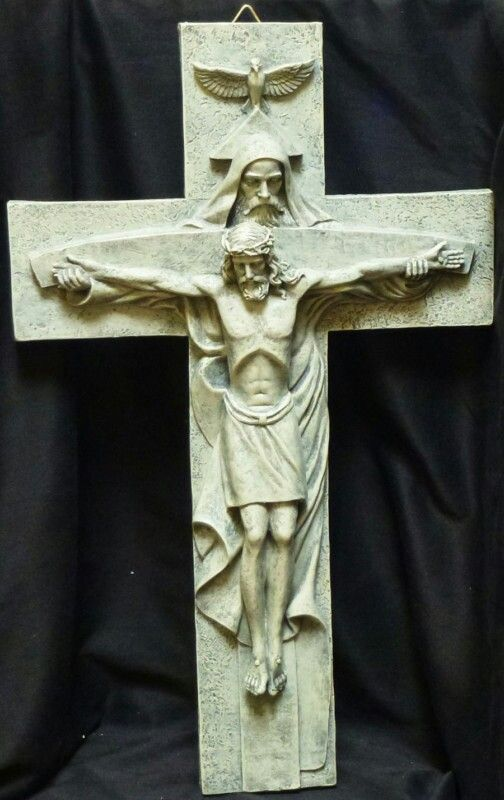 3.2 This crucifix shows Jesus' humanity, and how the rest of the Trinity was there with him, which represents His divinity. This shows us both sides of Jesus and reminds us that as God calls us to take up our crosses he will constantly be with us.