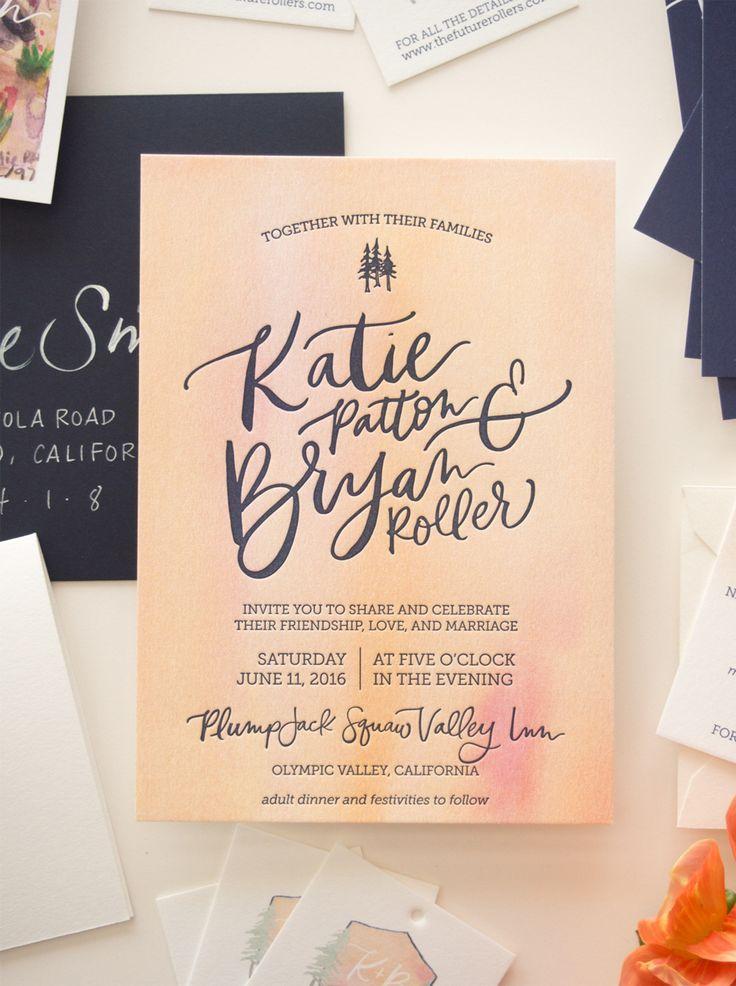 sister wedding invitation card wordings%0A Vibrant Watercolor Crest Wedding Invitations