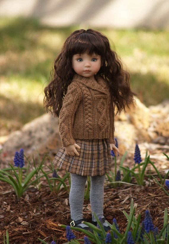 """Knitting pattern for 13"""" Effner Little Darling dolls by SewCoolSeparates on Etsy"""