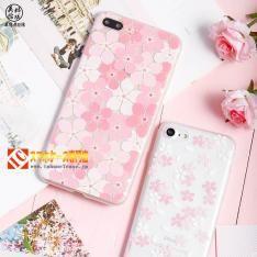綺麗清楚系桜さくら花びらアイフォン7/6s 浮き彫り絵柄 iPhone7plusケースソフト携帯カバーストラップ付き 女子ピンク色
