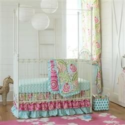Kumari Garden 3-Piece Crib Bedding Set