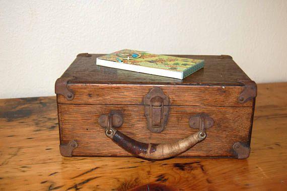 Vintage Wooden Box Vintage Oak Electronics Box Vintage Wooden
