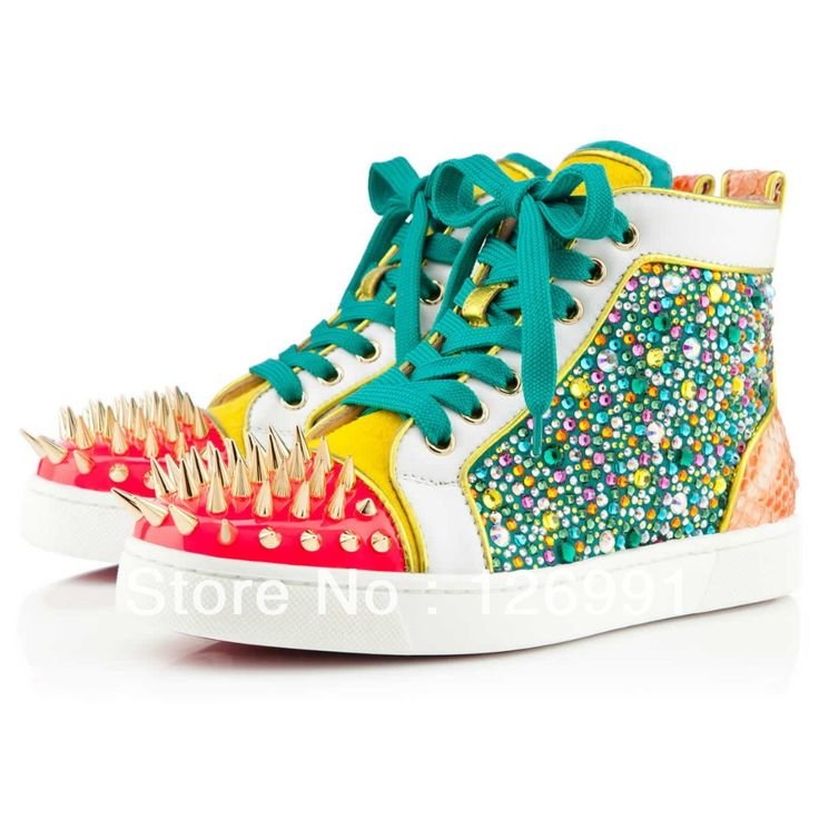 Spikes toe Red bottom sneakers for men women strass leopard Christian  Louboutin Louis spiked No limit