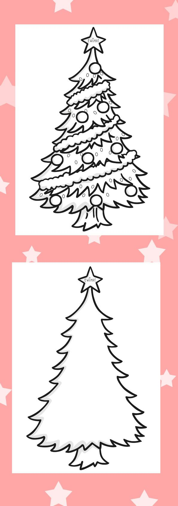 Christmas colouring in sheets twinkl - Twinkl Resources Colour In Christmas Trees Printable Resources For Primary Eyfs