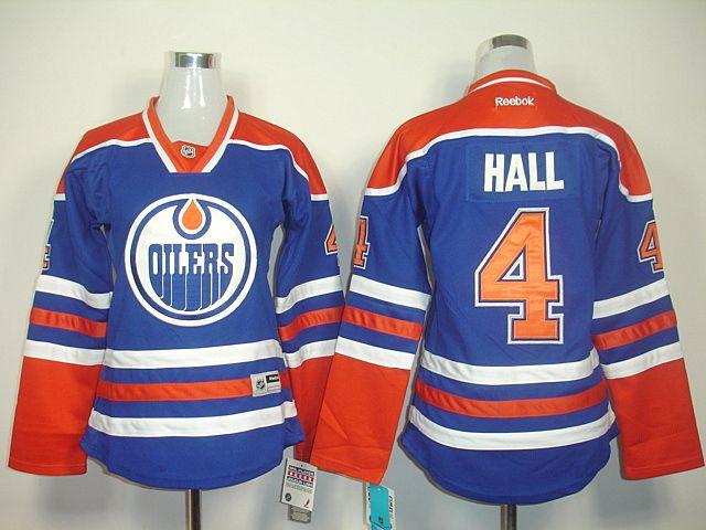 ... NHL Jersey Womens Reebok Edmonton Oilers 4 Authentic White Away Taylor  Hall Jersey Edmonton Oilers 4 Taylor HALL Womens Home Jersey ... 546b1a848