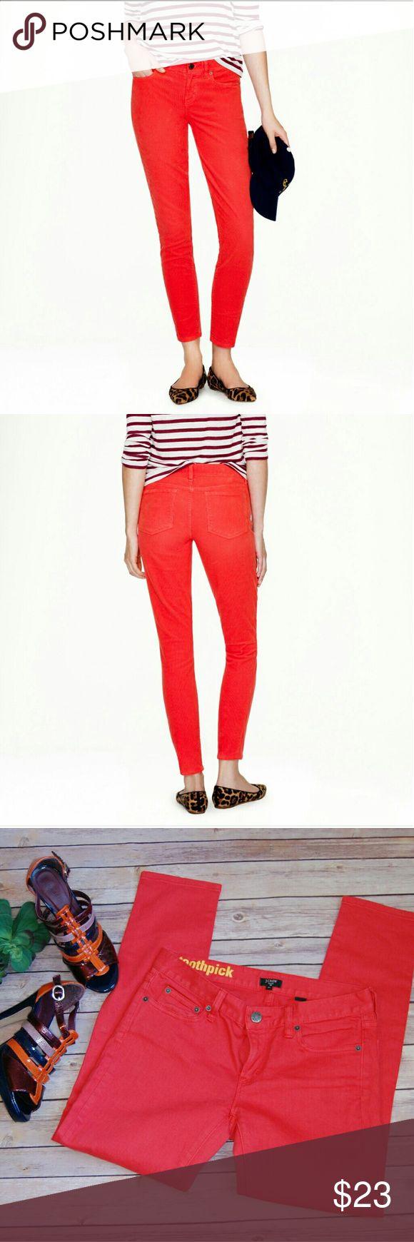 J.crew Orange Skinny Jeans, NWOT Size 27 Stretch Jeans NWOT No Flaws! J. Crew Pants Skinny