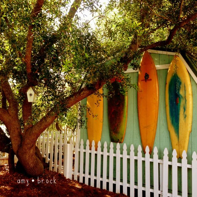 Funky little beach shack on Tybee Island...love the vintage surfboards as decoration!