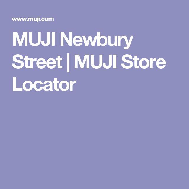 MUJI Newbury Street | MUJI Store Locator