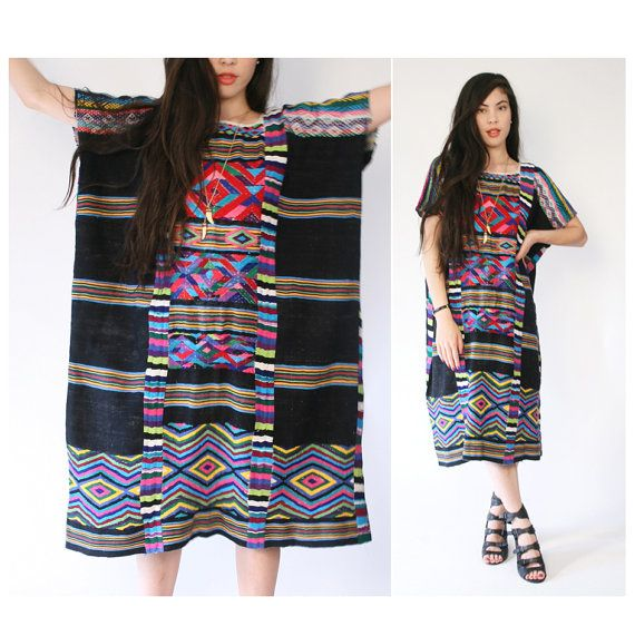 vintage heavily embroidered dress by santokivintage on Etsy