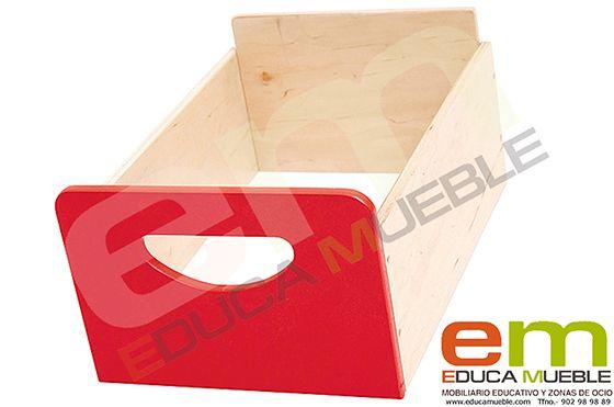 #Contenedor de madera en diversos #colores. Adecuado para muebles de serie D - Tienda Educamueble