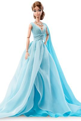 Blue Chiffon Ball Gown Barbie® Doll | The Barbie Collection 2017