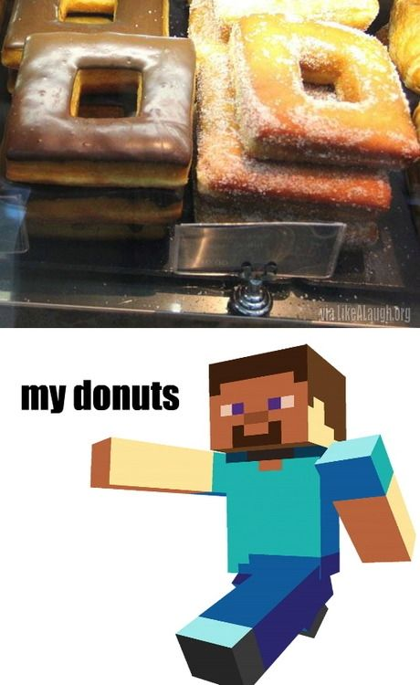 Whoa, minecraft just got real! I just had a burger in Boston called the Minecraft and it wasn't good... It was amazing!
