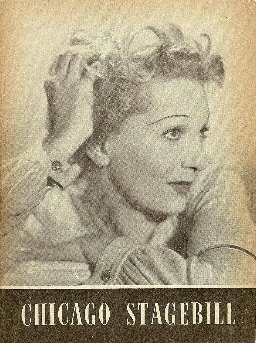 """Theatre Programme from the Premiere Chicago Production of the Moss Hart / Kurt Weill musical """"Lady in the Dark,"""" which performed from January 19 thru February 20, 1953 at the Civic Opera House. Gertrude Lawrence starred in the production."""
