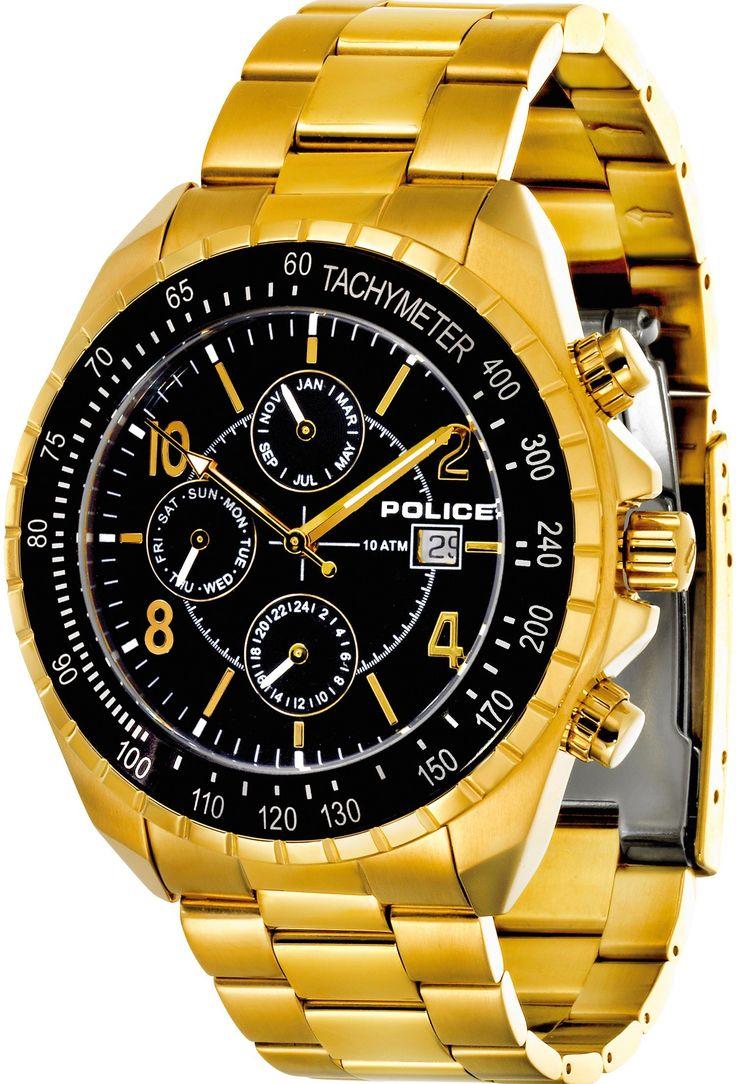 Lækkert guldfarvet herreur - Police Navy MF Herre Gold PL12777JSG/02M