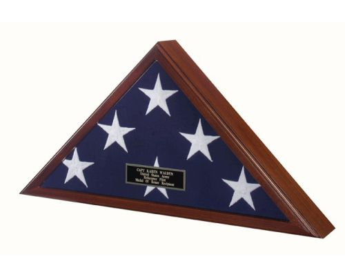 Buy Flag Display case flag case Fit Large flag burial flag frames  USA Made Display Flag for 5ft x 9.5 ft Flag. The case can be placed on a mantle or coffee table but can also be hung attractively as the back is recessed to rest flush against the wall.