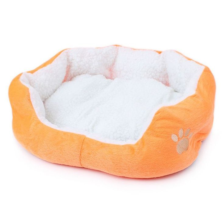 Soft Dog Bed Warm Fleece House Kennel Plush Mat 4 Colors Small Dog Bed Supplies