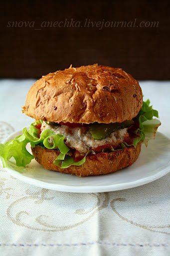 Гамбургер с паровой котлетой