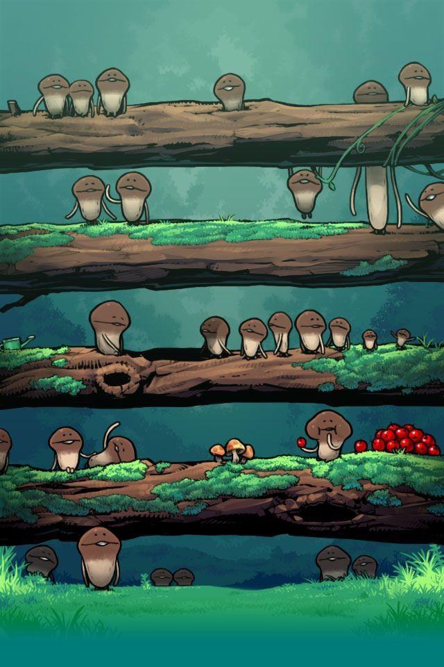 mushroom garden wallpaper valentine Nameko Completed!