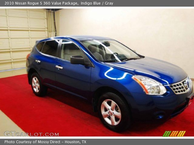 blue nissan rogue  | Indigo Blue 2010 Nissan Rogue S 360 Value Package with Gray interior