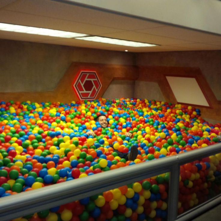 An adult ball pit! Now I know what to do with the unfinished basement! #ChangeOfPlans #WhatGuestBedroom