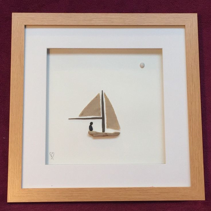 "Pebble Art - ""Sail Away"" by Radlins on Etsy https://www.etsy.com/listing/292233767/pebble-art-sail-away"