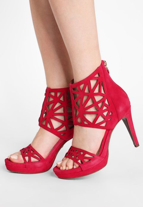 Sandales à talons hauts - fuxia