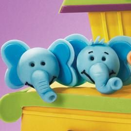 These elephants would be cute as cupcake toppers.