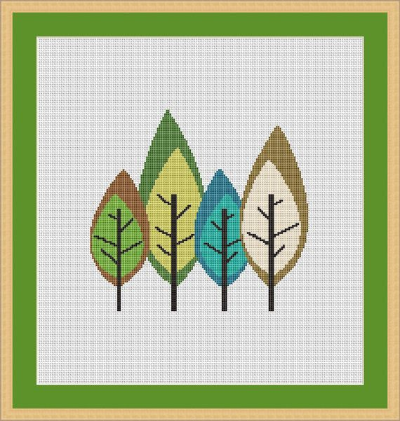 Cute Forest Counted Cross stitch Pattern PDF by WonderNeedle