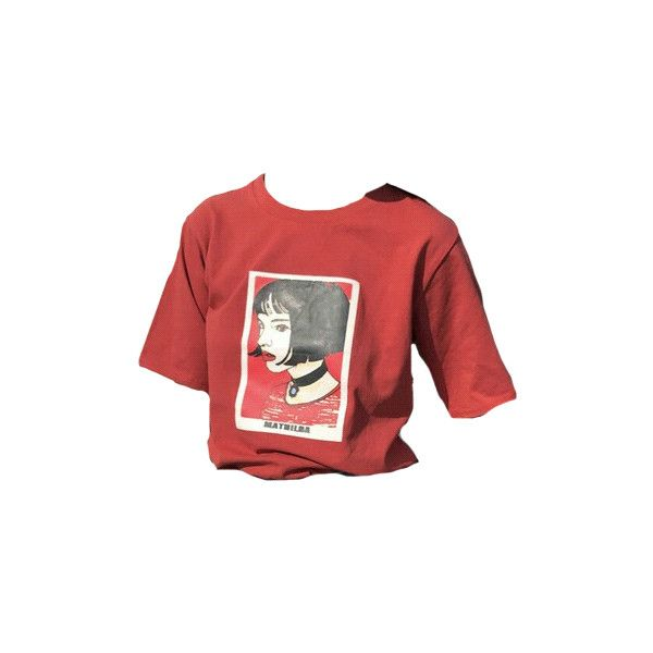 DESTINY ❤ liked on Polyvore featuring tops, t-shirts, red, shirts, red shirt, red top, t shirts, tee-shirt and shirt top