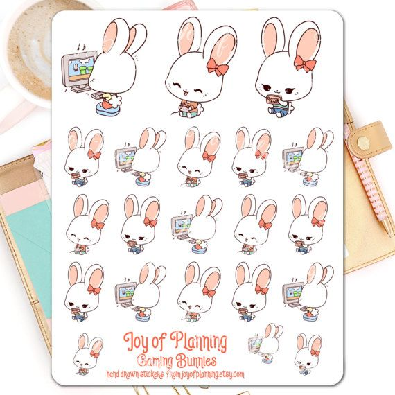 Gaming planner stickers planning hobby stickers by JoyofPlanning