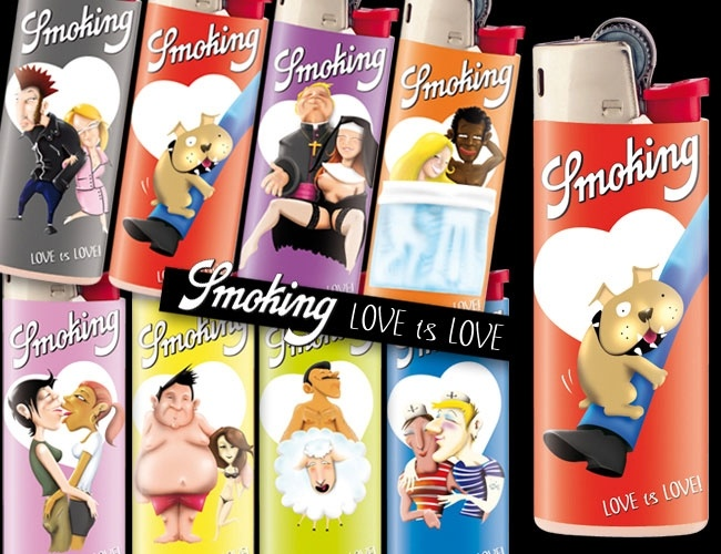 "Love is Love by Littlejoe - from ""SMOKING's Unruly Lighters Only"" graphic design & illustration contest"