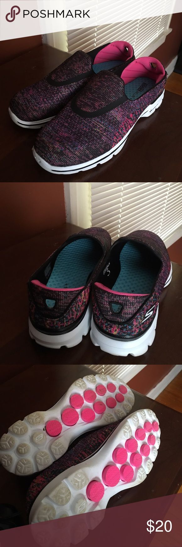 Skechers Go Walk Slip on shoes, worn twice. Skechers Shoes Athletic Shoes