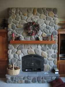 Best 25 River Rock Fireplaces Ideas On Pinterest Stone