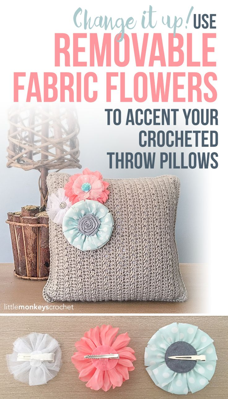 183 best crochet cushions and pillows free patterns images on free flower throw pillow crochet pattern by little monkeys crochet bankloansurffo Choice Image