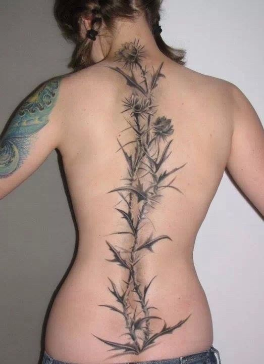 Flowers | Community Post: 27 Gorgeous Spine Tattoos That Will Inspire You To Get Inked