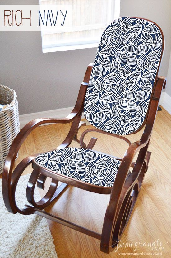 Bentwood rocking chair makeover. maybe do this with a caned rocker ...