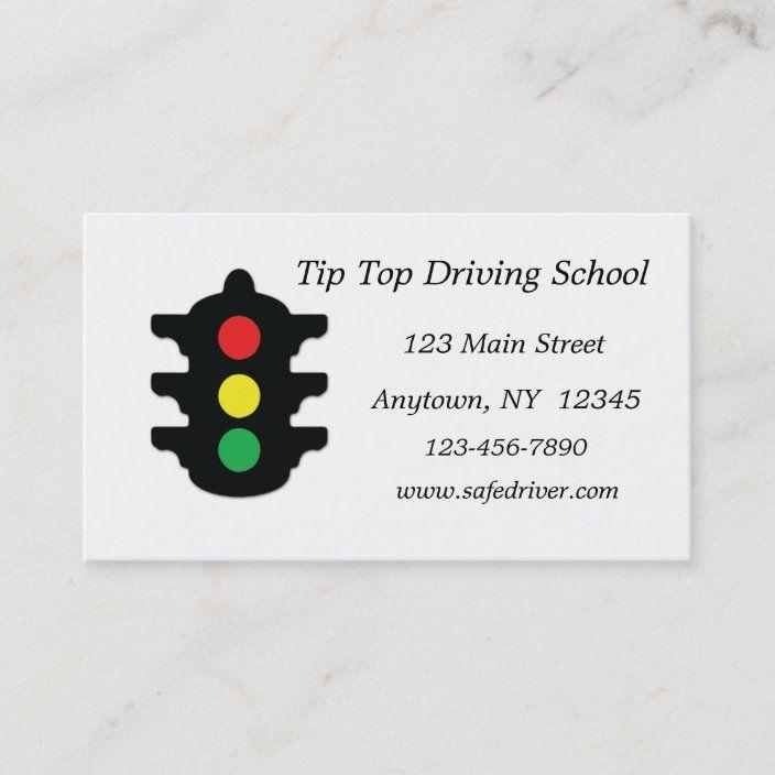 Traffic Light Business Card Zazzle Com Traffic Light Cards Traffic