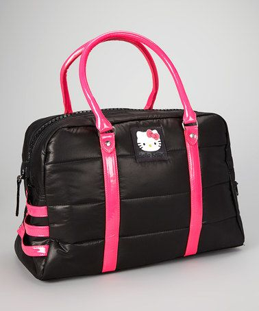 Black Quilted Puffs Hello Kitty Duffel by Hello Kitty on #zulily