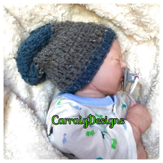 Baby boy-8years crochetedknitted hippie slouch by CarraigDesigns