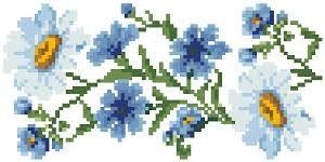 Картинки по запросу схема вышивки ромашки васильки