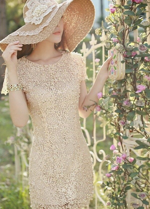 Elegant Women's Floral Crochet Lace Pearl Beaded Bridesmaid Party Mini Dress Gown Top Quality