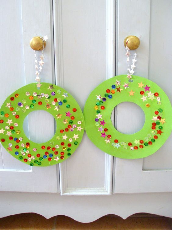With or Without Nap: Kids Craft - Paper Plate Christmas Wreaths: