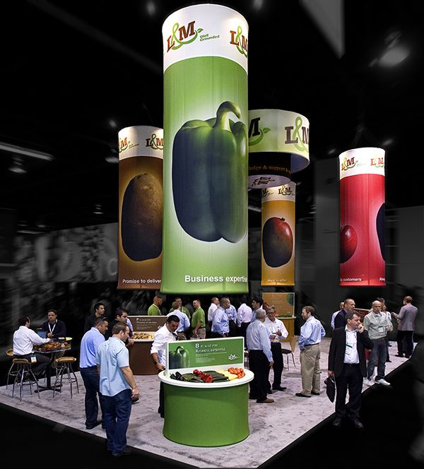 Exhibition Booth Concept : L m custom fabric trade show booth point concepts