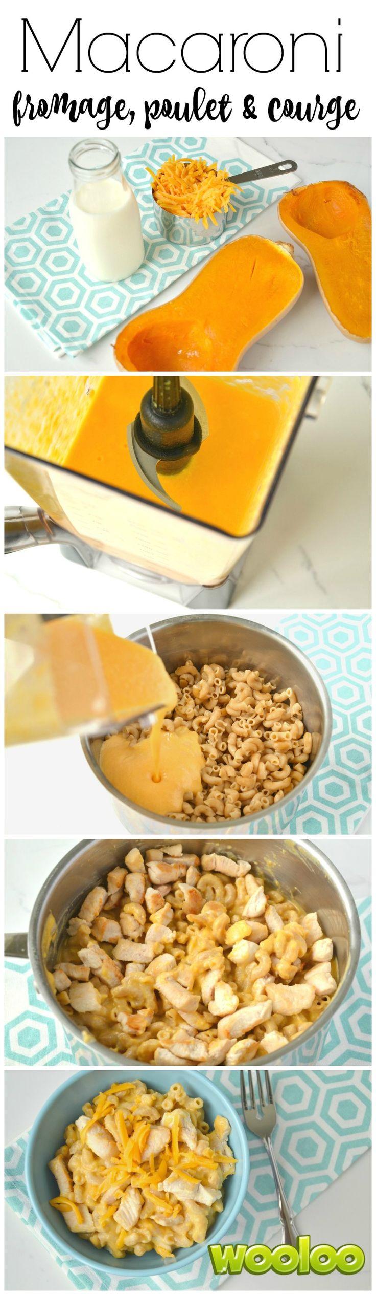 Voici donc une recette vitaminée que vos enfants vont adorer. Profitez des légumes et du poulet d'ici avec un Macaroni au fromage, au poulet et à la courge butternut.