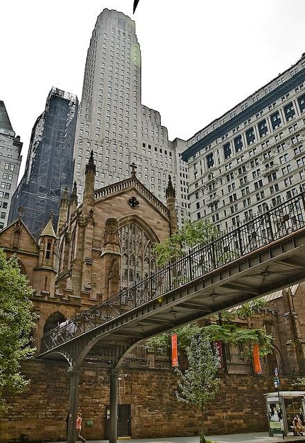 NYC. Trinity Church, Lower Manhattan