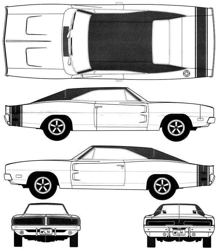 dodge charger 1970 blueprint - Αναζήτηση Google