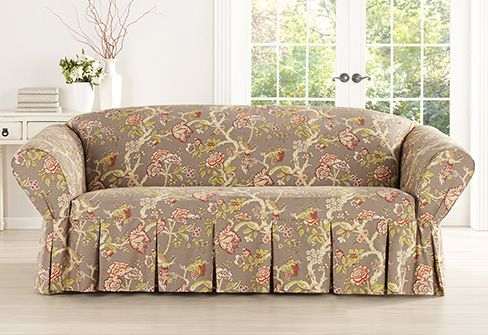 Sure Fit Slipcovers Casablanca Rose by WaverlysupsmallTM/small/sup One Piece Slipcovers - Sofa