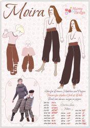 MOIRA- Mehrgrößen Schnittmuster Pump-Hosen Damen, Kinder, Puppe