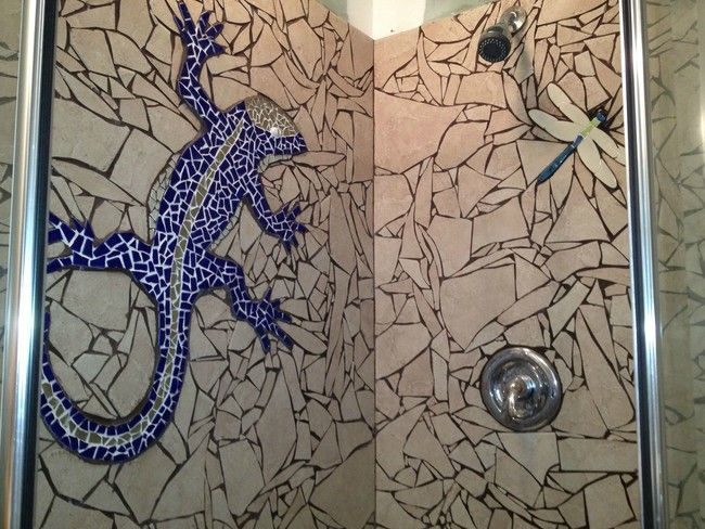 He Broke His Leftover Tile To Make Something Epic In His Guest Shower ~ Smoked Bacon