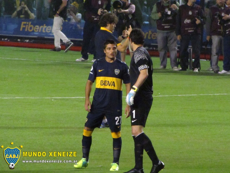Boca vs Unión 3 marzo 2013 - Sebastían Palacios y Agustín Orion